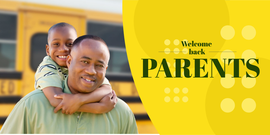 Welcome back parents school banner